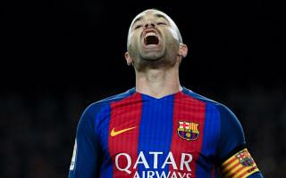 Injured Iniesta to miss Eibar clash