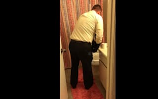Man finds squirrel in toilet and rescues it