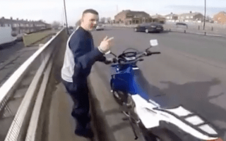 Conscientious rider nearly has motorbike stolen in Newcastle