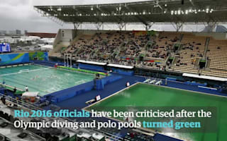 Uh oh, now the water polo pool has turned green too! But we've finally found out why...