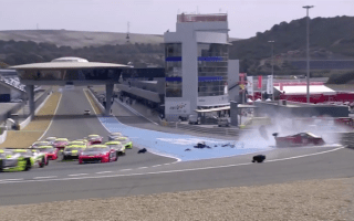 Ferrari race car destroyed during violent crash