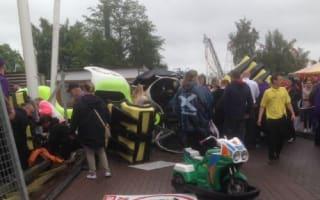 Rollercoaster derails at M&D's theme park, seven injured