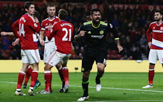 Middlesbrough 0 Chelsea 1: Costa sends Conte's side top