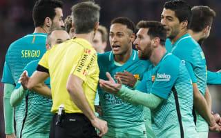 Pique slams referee after Barca loss
