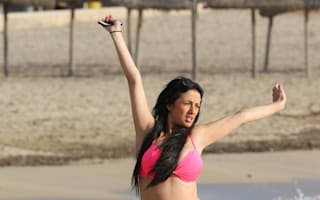 Chantelle Houghton poses in pink bikini on beach holiday in Spain