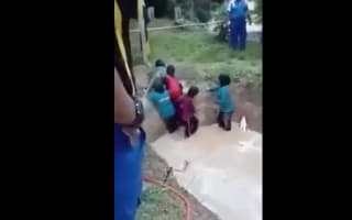 Screaming children forced into snake pit in 'team-building exercise'