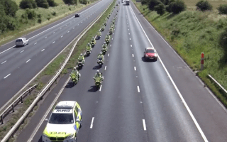 Video: The ultimate police convoy