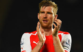 Arsenal name injured Mertesacker as captain