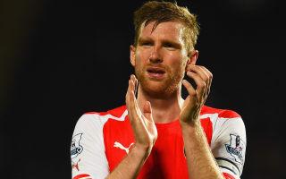 Arsenal name injured Mertesacker as captain