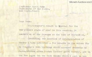 Albert Einstein's letters go up for auction