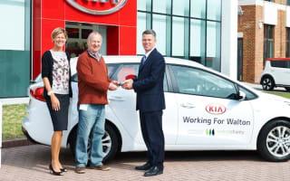 Kia donates car for food bank use