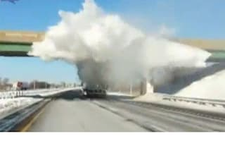 Video: Truck shows why you should clear your roof of snow