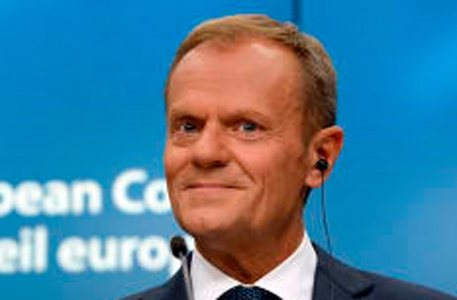 PM trolled over Brexit by Donald Tusk with Lennon lyric