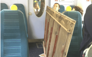 Ceiling collapses onto commuters on Southern train