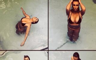 Lauren Goodger poses in bikini on holiday in America