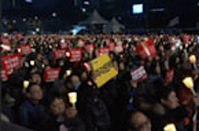 Raw: 6th Weekend of Anti-Park Protests in Seoul