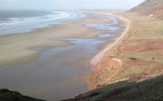 Huge landslide hits Britain's most beautiful beach