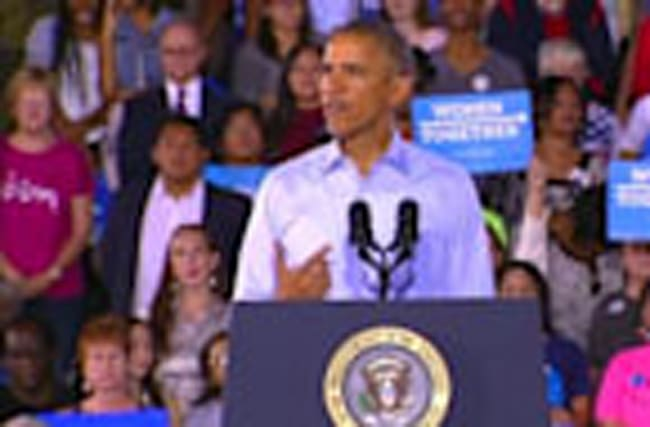 "Obama: vote for Republicans is a vote for more ""gridlock"""