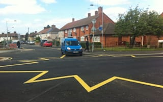 Star-shaped road marking sparks confusion in Dagenham