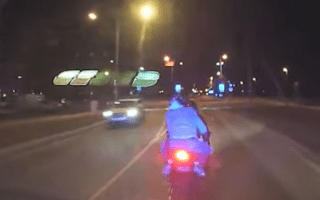 Estonian cops ram motorcyclist in dramatic police chase