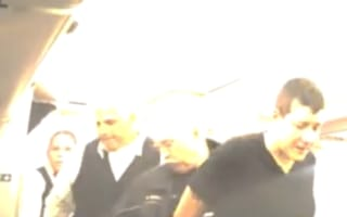 Video: Drunk woman handcuffed and flight diverted after she 'makes sexual advances'