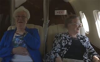 Two nanas take to the skies for the first time (heartwarming video)