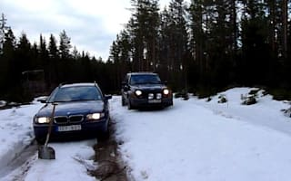 Video: BMW Vs Jeep on snow. Gutted, Germany
