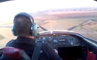 Pilot survives plane rolling after crash in France (video)