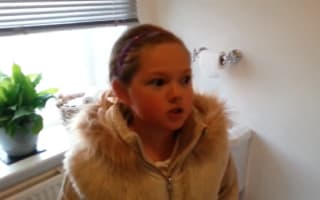 Emotional moment girl, 10,  gets Christmas puppy surprise