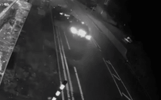 Two men ditch Mercedes after smashing into parked car