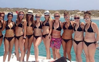 Coleen Rooney lets her hair down on hen do in Ibiza