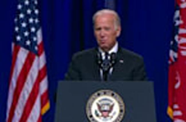 Biden chokes up when talking to families of slain police officers
