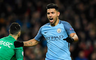 Aguero grapples for glory as strikers shine in Manchester City v Monaco