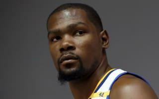 Quiet Warriors debut for Durant