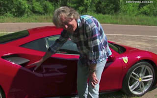 Video: James May puts car reviewing hat back on for Ferrari test