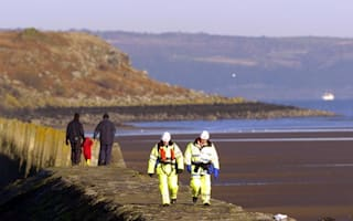 Eight people and a puppy rescued from Scottish beach