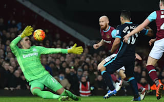 West Ham 2 Manchester City 2: Aguero double saves visitors