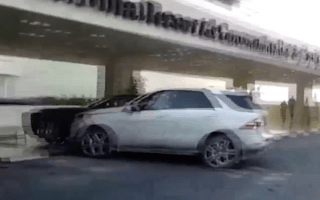 Drink-driver rams Rolls-Royce, and then does it again