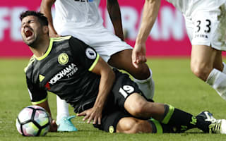 Conte: Costa took a lot of kicks against Swansea