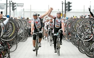 Andrew Flintoff and Lawrence Dallaglio complete 28-day bike ride