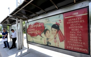 Man takes out 50 bus stop adverts to propose to his girlfriend