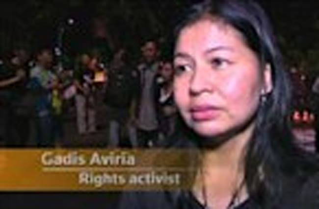 Protest, vigil for condemned drug convicts in indonesia