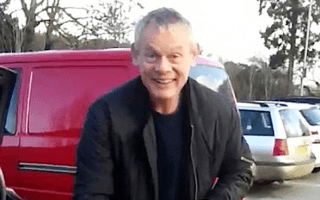 Martin Clunes unrepentant after parking in motorcycle bay