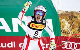 Schmidhofer takes first gold in St Moritz as Vonn, Veith fail to finish