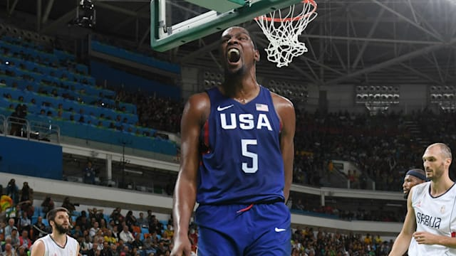 US romps to men's basketball gold, beats Serbia 96-66