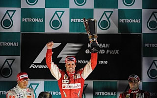Only 'disaster' to take title from Alonso