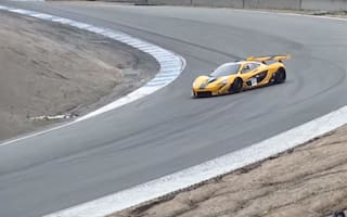 McLaren driver has close call at Laguna Seca raceway