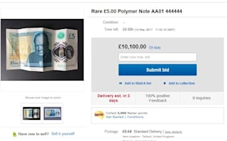 Why are collectors offering £10,000 for this fiver?