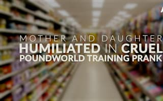 Mother and daughter humiliated in cruel Poundworld training prank