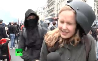 Reporter attacked during filming of Paris protests